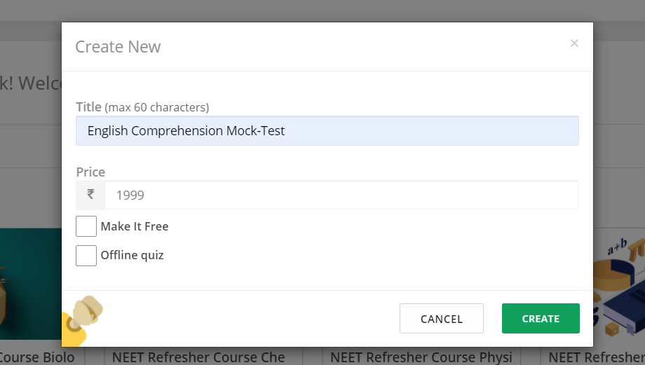 create online test for comprehension exam